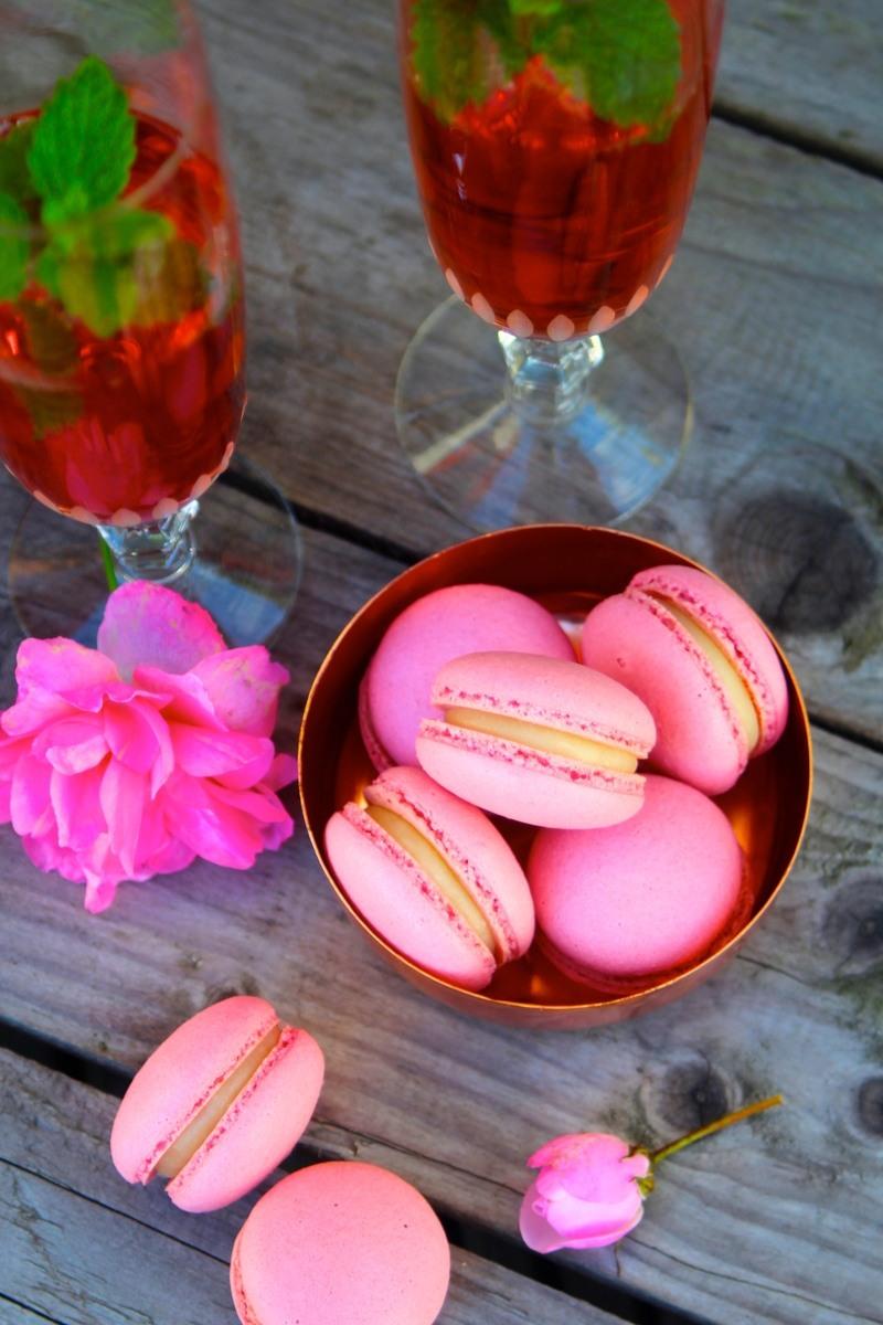 Rezept Champagner-rosé-Macarons - perfekt zur Sylvesterparty!
