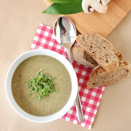 Rezept Champignon-Bärlauch-Suppe