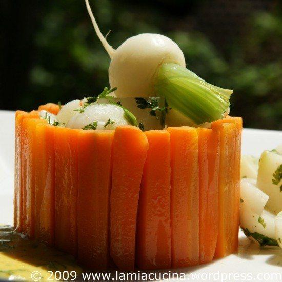 Rezept Chartreuse aus Mairübchen und Karotten