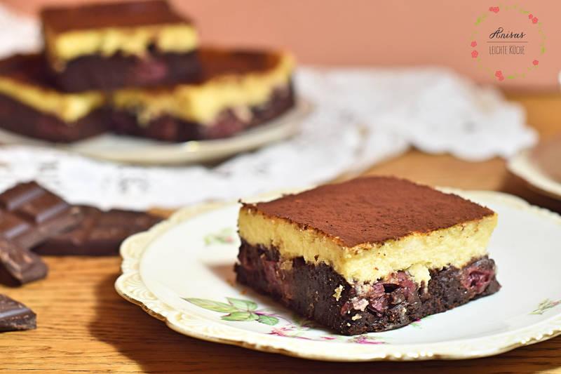 Rezept Cheesecake meets Brownie – eine etwas andere Donauwelle