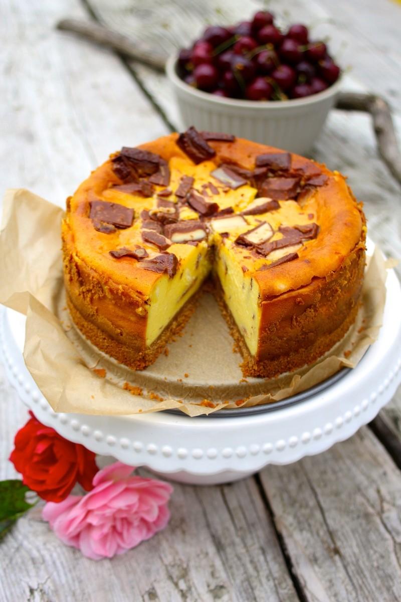 Rezept Cheesecake mit Kinderriegeln