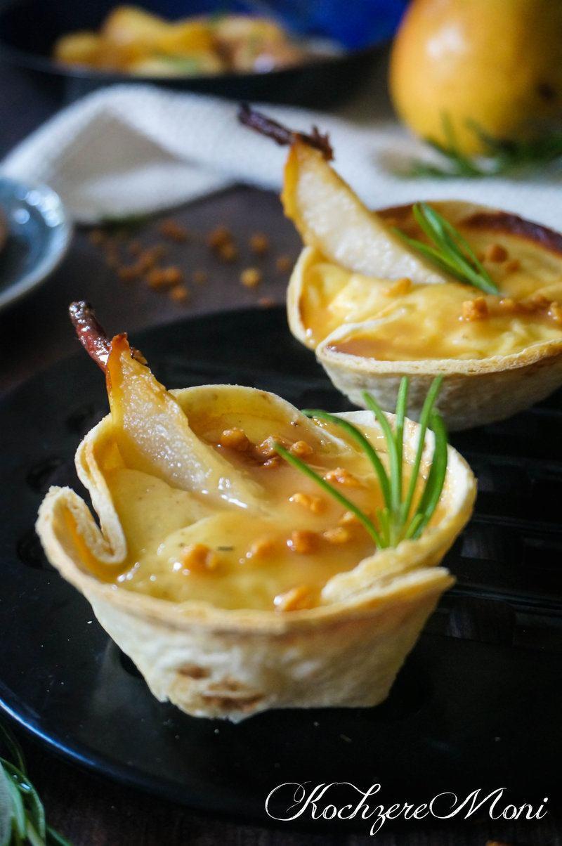 Rezept Cheesecake Tortilla Törtchen mit karamellisierter Willimas Christ Birne