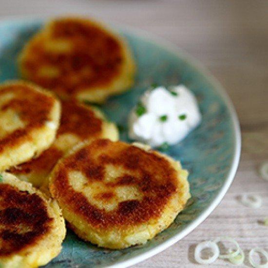 Rezept cheesy mashed potato patties
