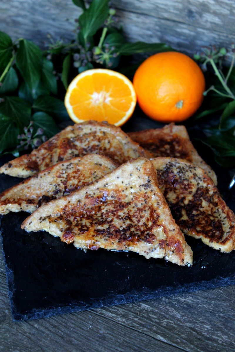 Rezept Chia French Toast mit Mandarinenquark