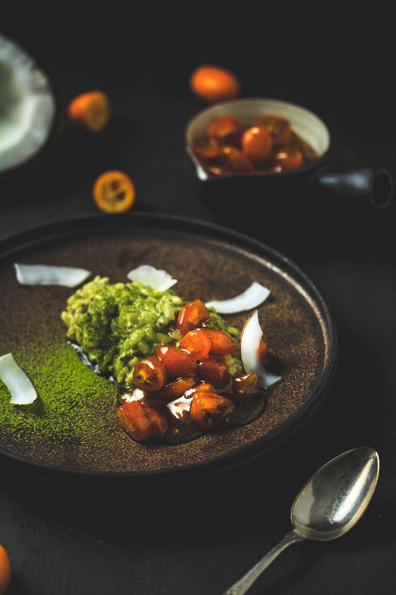 Rezept Chia-Matcha-Kokosmilchreis mit Kumquatkompott