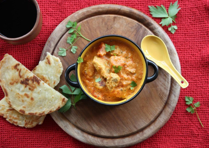 Rezept Chicken Tikka Masala mit Naanbrot
