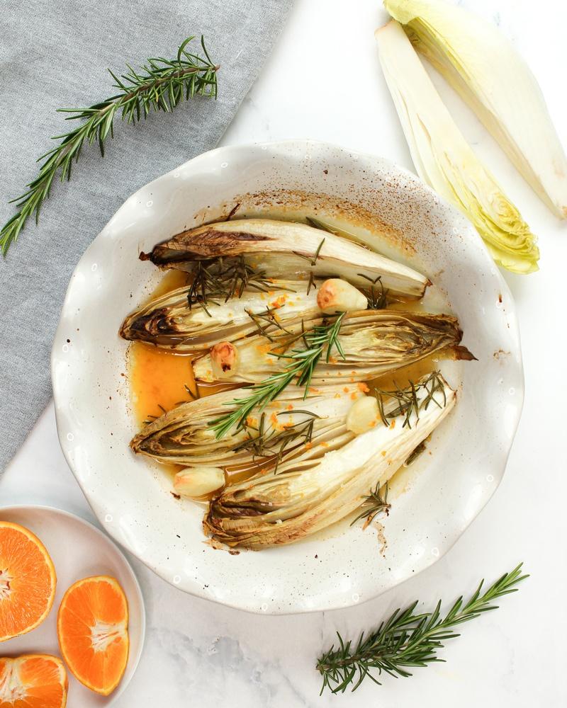 Rezept Chicorée mit Orange aus dem Ofen vegan