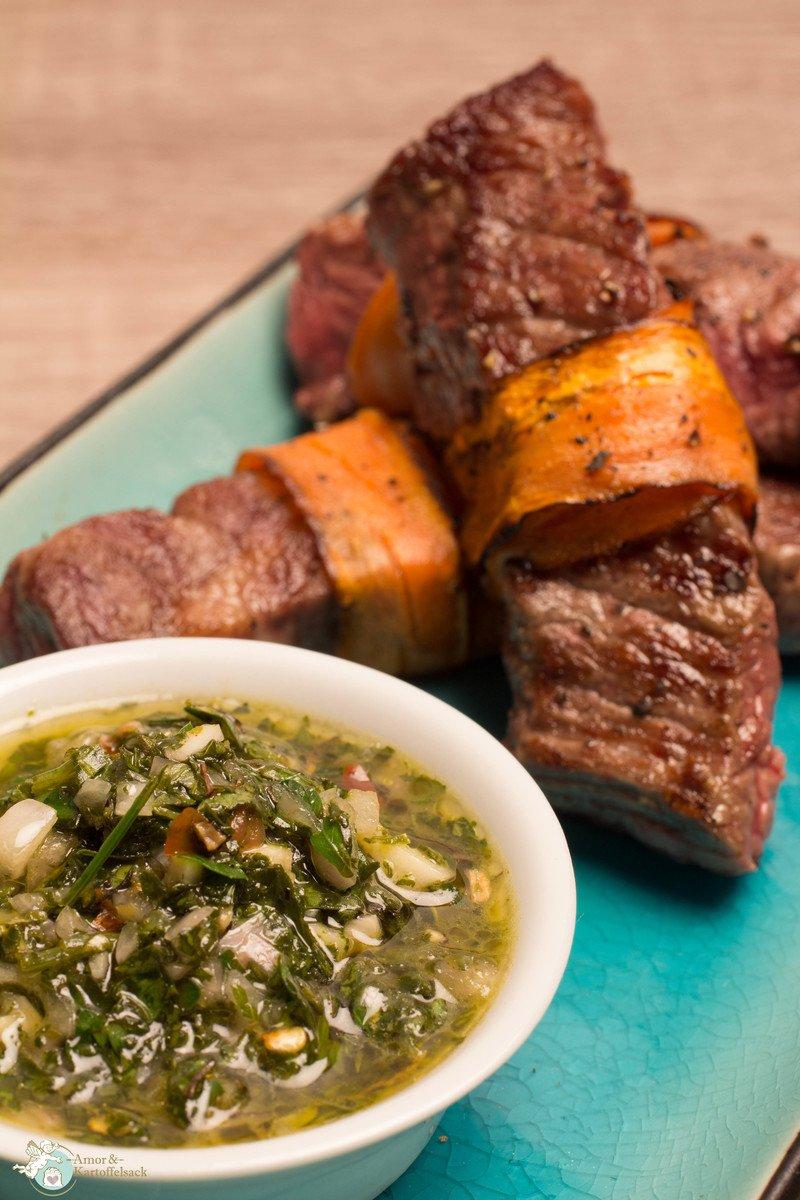 Rezept Chimichurri mit Steaksticks