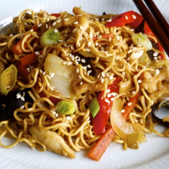 Rezept Chinese stir-fried noodles