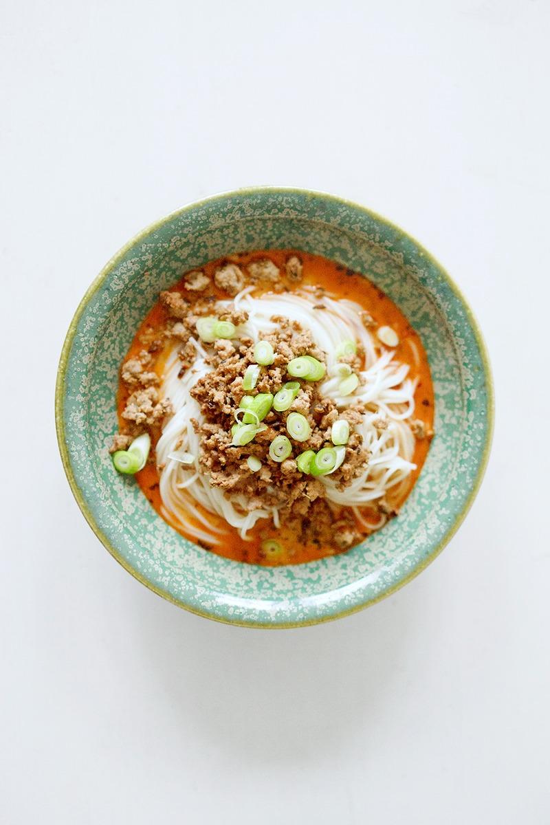 Rezept Chinesische Nudeln mit Hackfleisch und Chiliöl - Dan Dan Mian