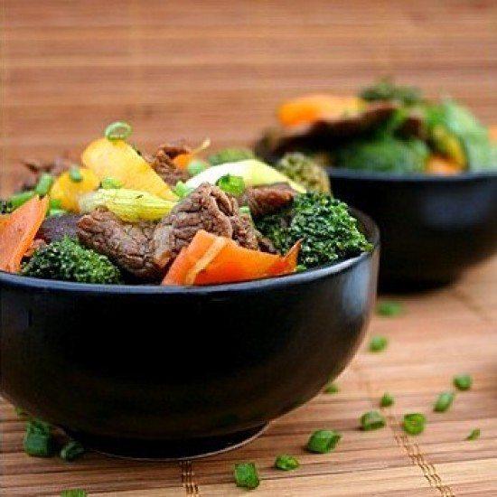 Rezept chinesisches Rindfleisch mit Austernsauce