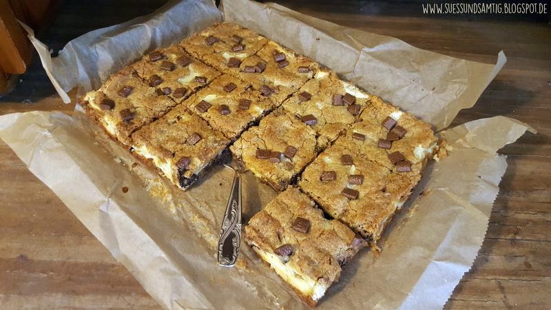 Rezept Chocolate Chip Cookie Cheesecake Bars