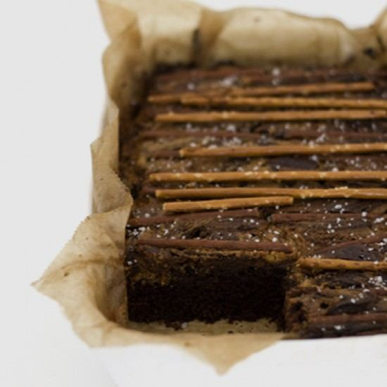 Rezept Chocolate Peanut Butter Pretzel Brownies