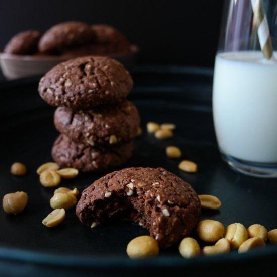 Rezept Chocolate Peanut Cookies