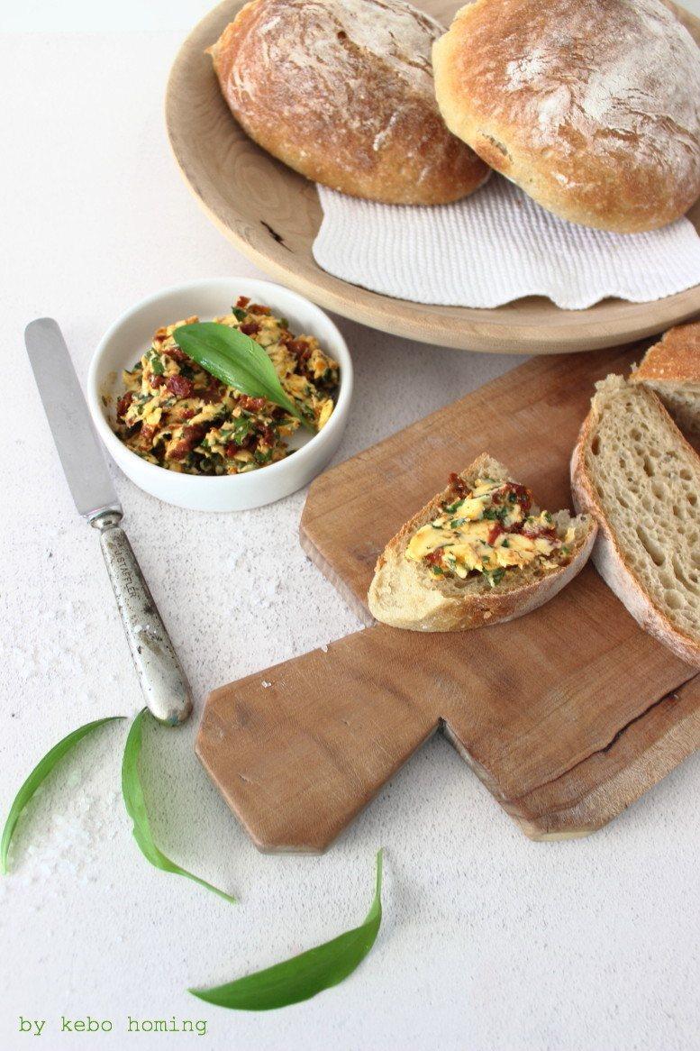 Rezept Ciabatta mit Bärlauch-Tomaten-Butter