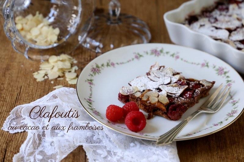Rezept Clafoutis au cacao et aux framboises