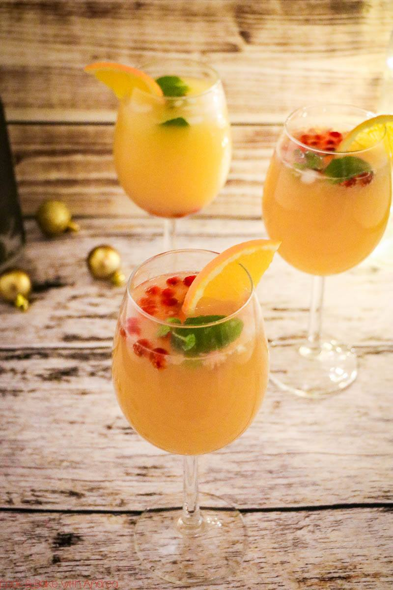 Rezept Cocktail für Silvester mit Orange und Granatapfel