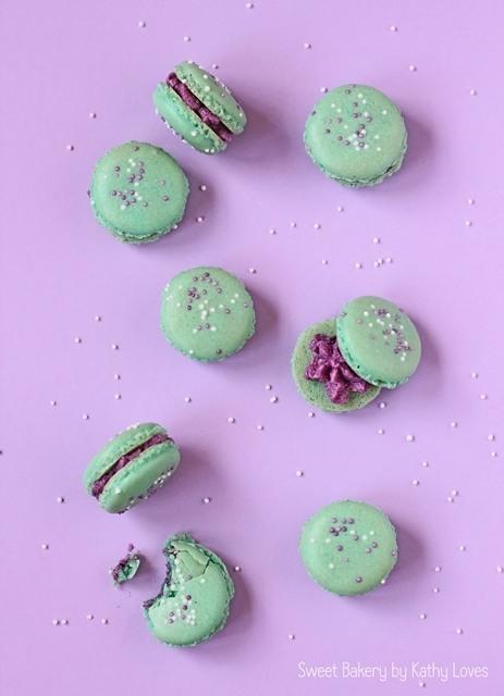 Rezept Colour Pop Macarons mit Heidelbeer Buttercreme