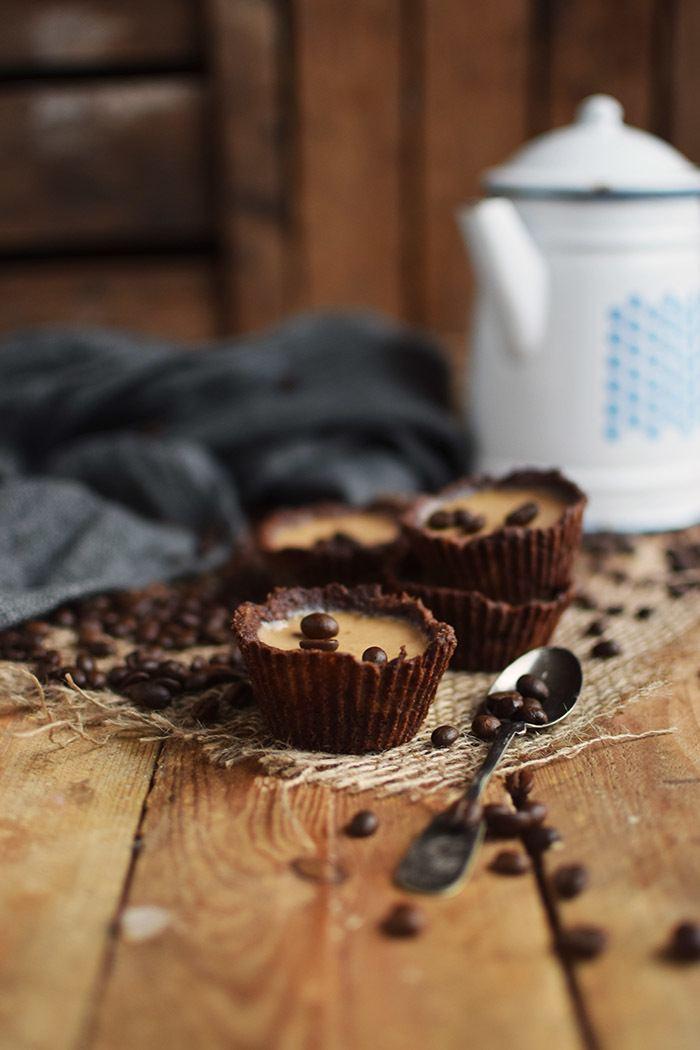 Rezept Cookie Cups mit Kaffee Panna Cotta