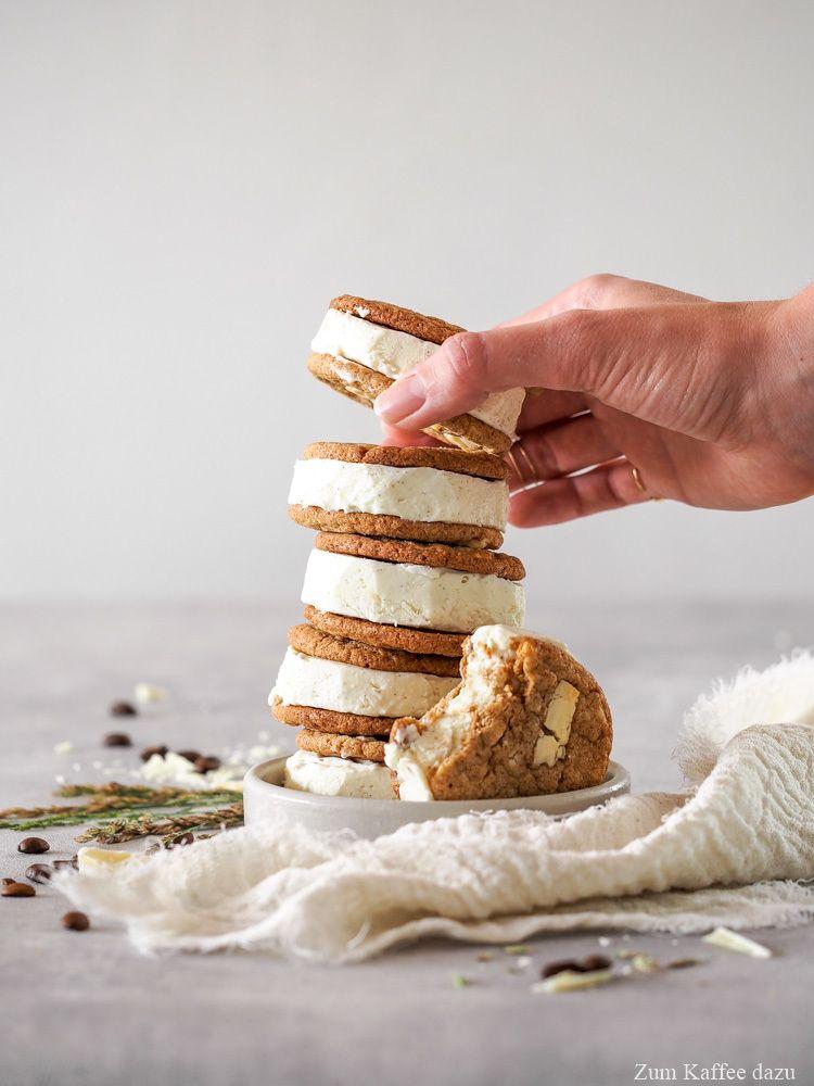 Rezept Cookie-Sandwiches mit Vanilleeis