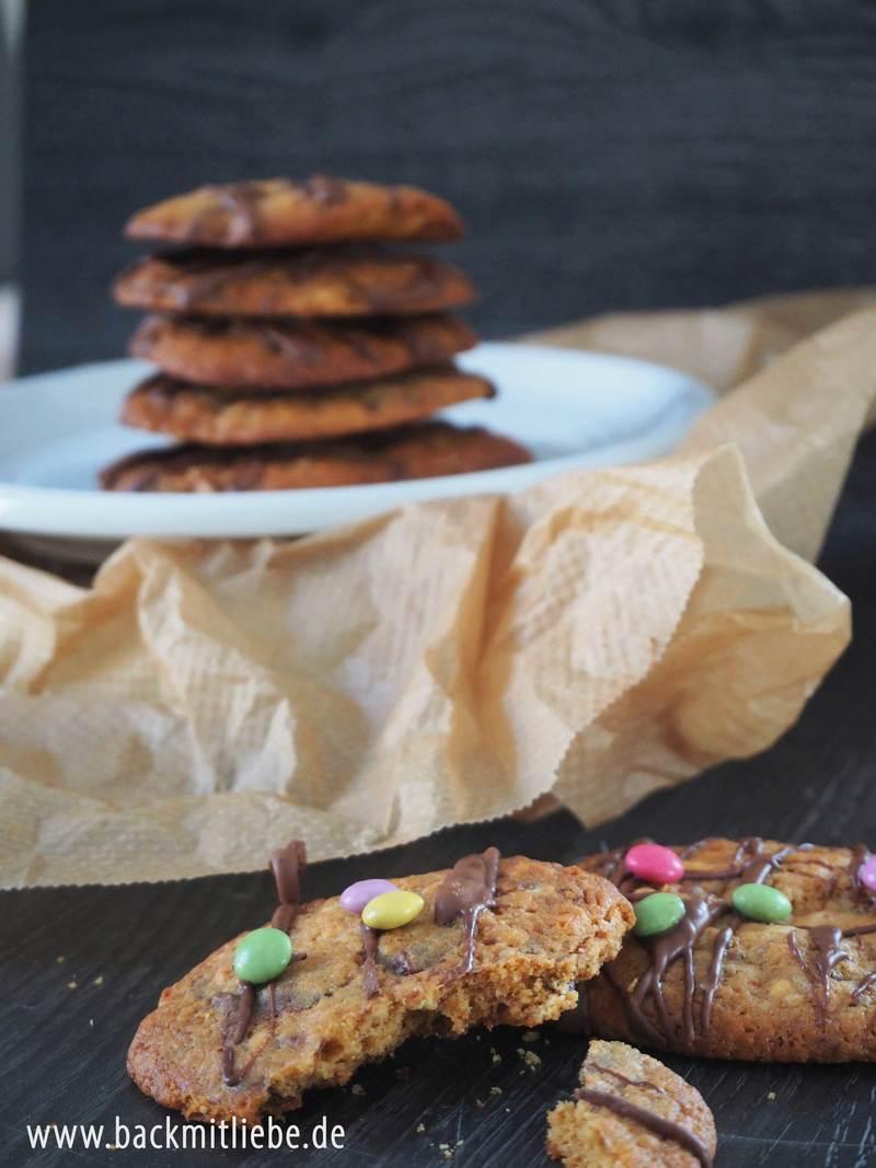 Rezept Cookies mit dunkler und weißer Schokolade