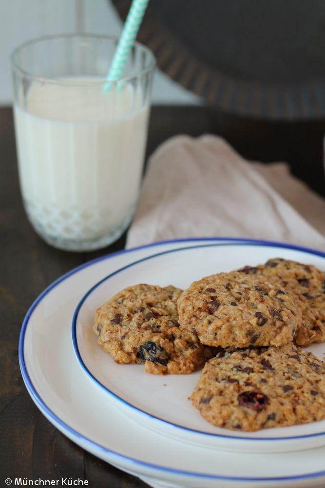 Rezept Cookies mit Schokolade und Cranberries