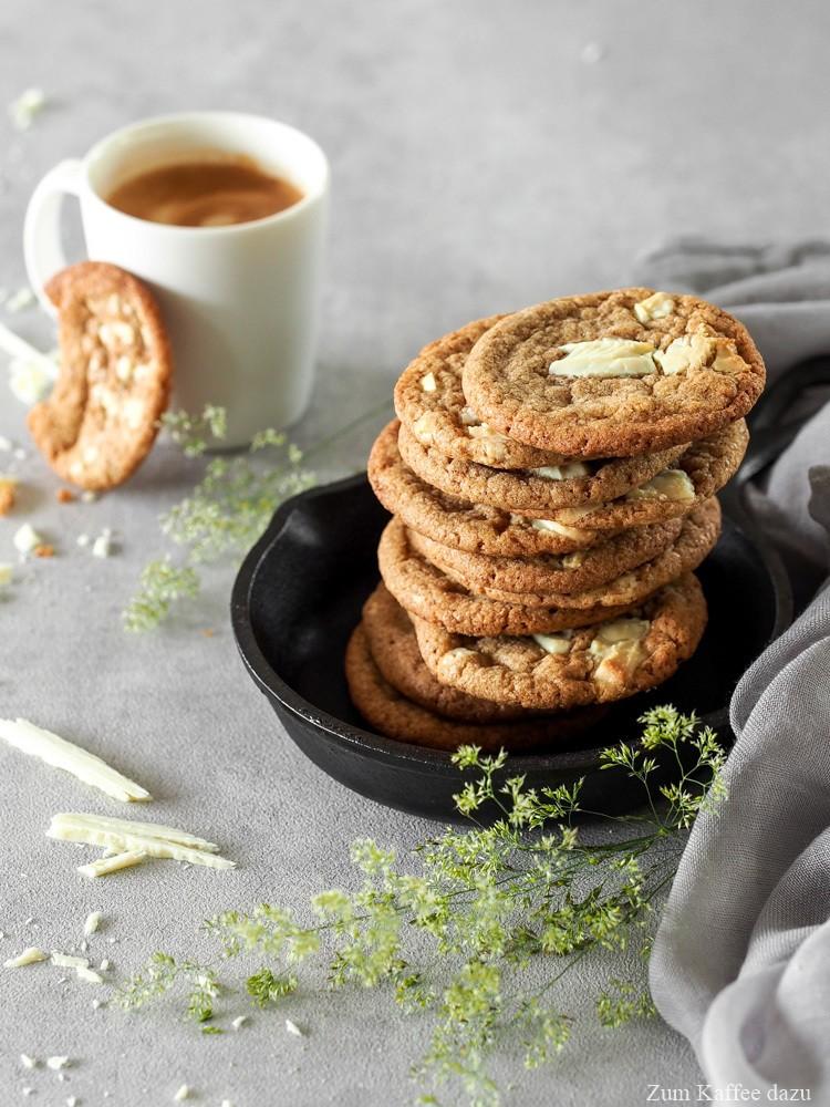 Rezept Cookies mit weißer Schokolade und Espresso