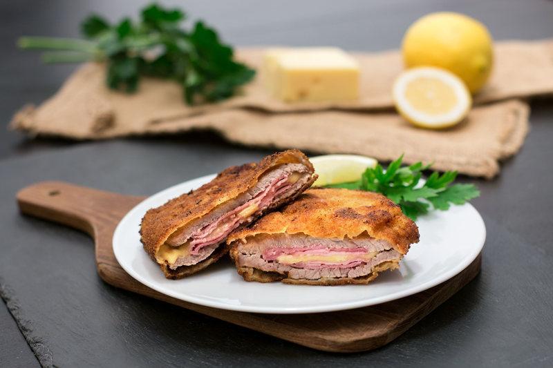Rezept Cordon Bleu: Kalbsschnitzel mit Käse & Kochschinken