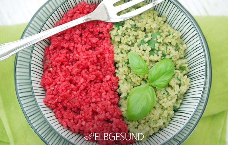 Rezept Couscous-Bowl in rot-grün macht glücklich!