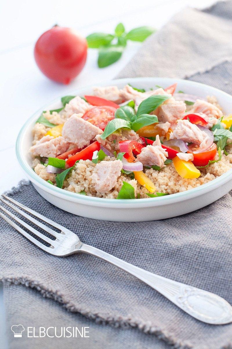 Rezept Couscous-Salat mit weißem Thunfisch – wenns schnell gehen muss