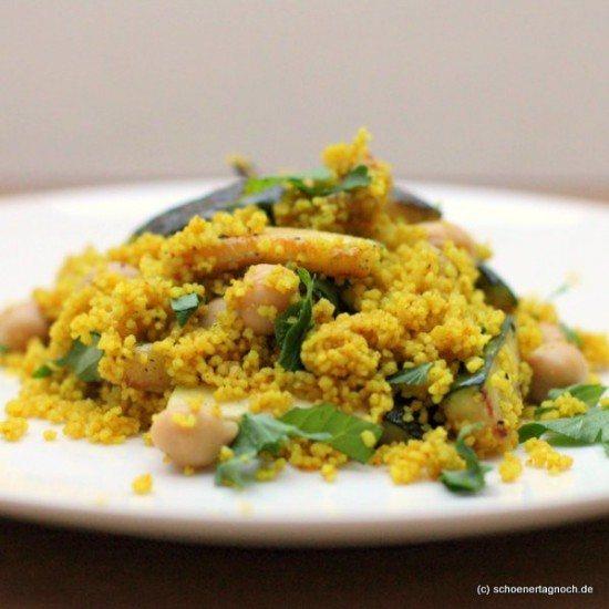 Rezept Couscous-Salat mit Zucchini & Kichererbsen