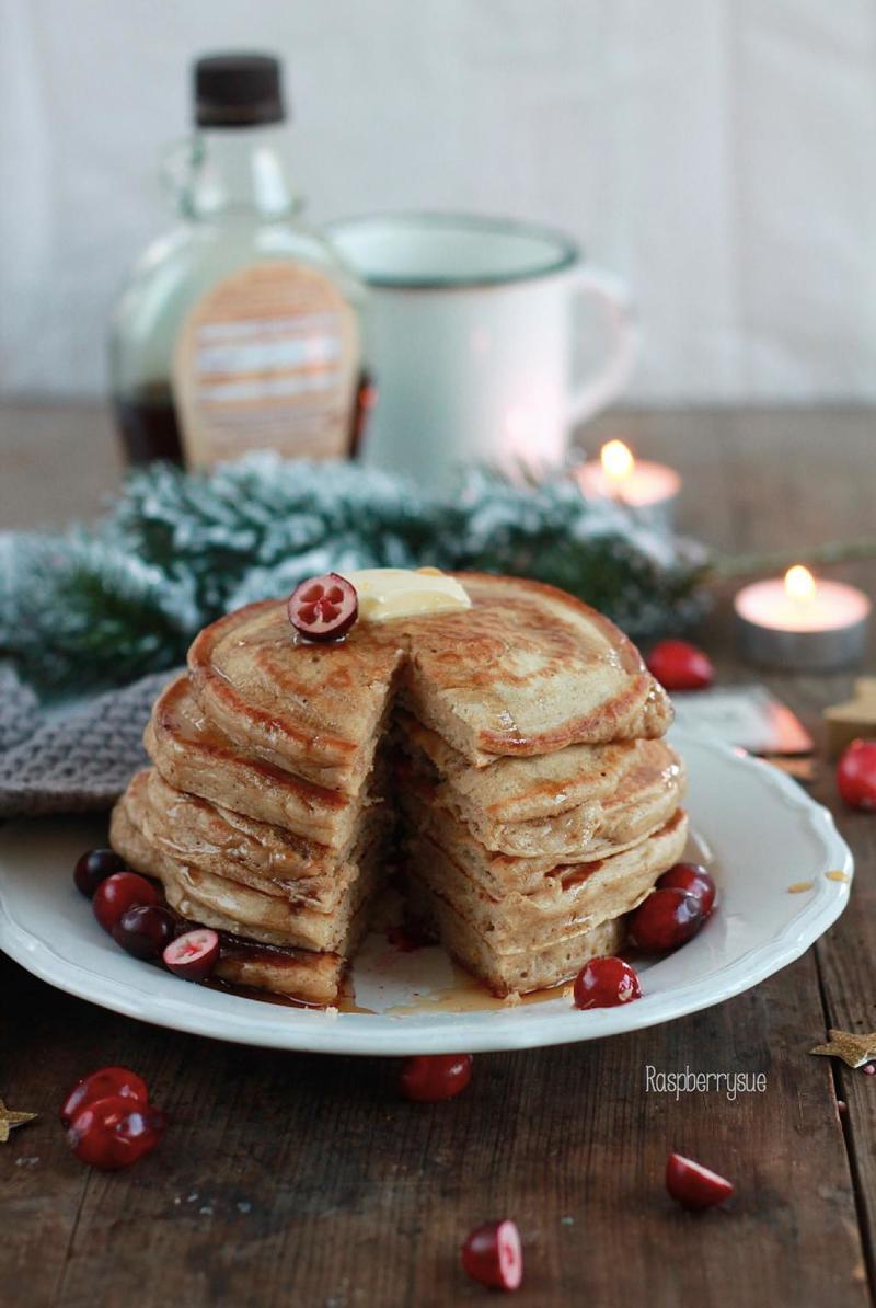 Rezept Cranberry Zimt Pancakes
