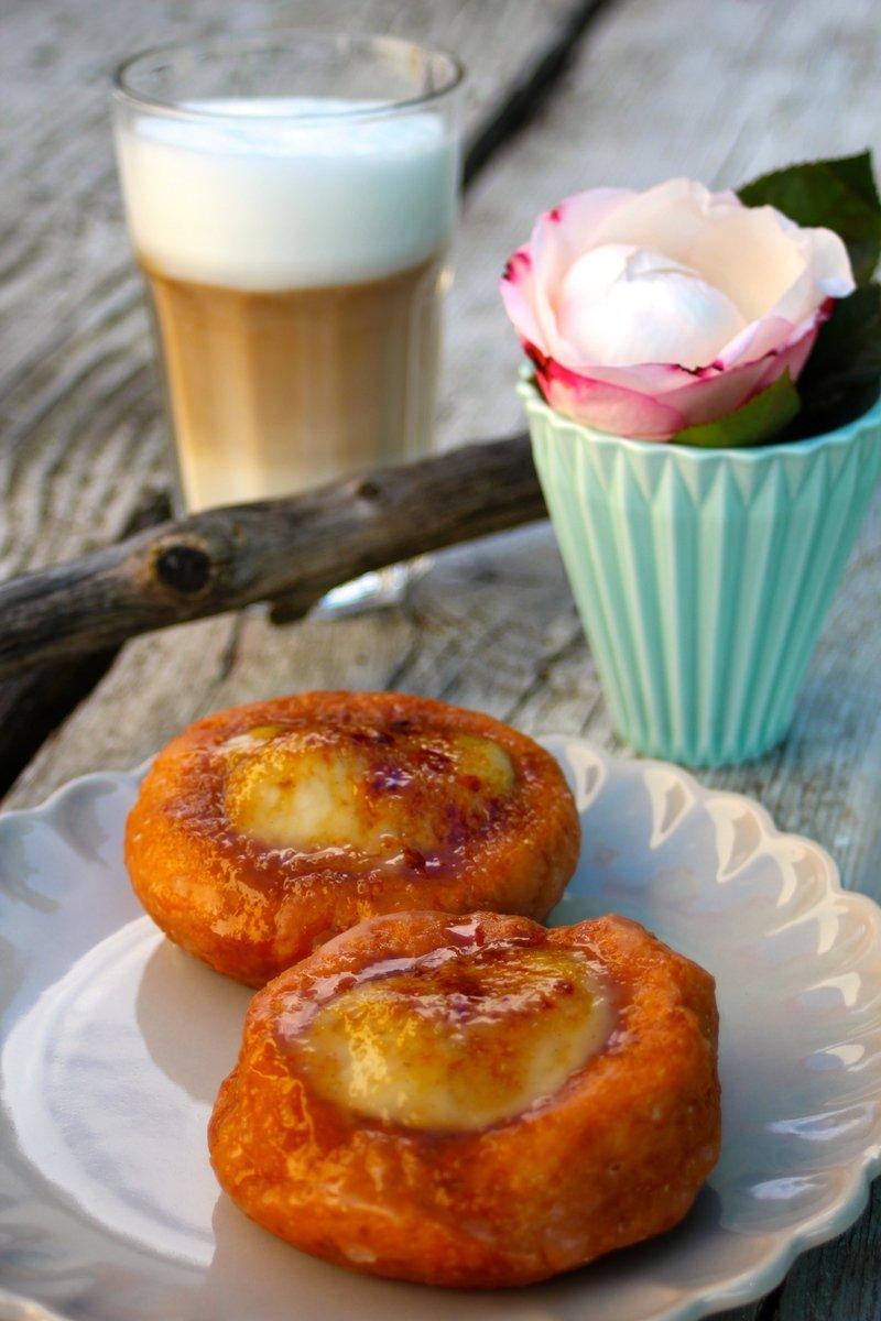 Rezept Crème‑brullée‑Donuts mit Vanille und Bourbon (vegan!)