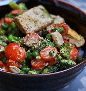 Rezept Cremige Ingwer-Tofu-Gemüsepfanne