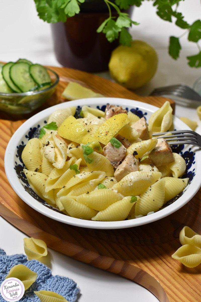 Rezept Cremige Lachs-Sahne-Pasta