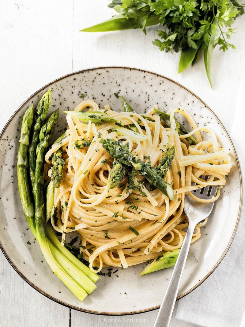 Rezept Cremige Pasta mit grünem Spargel