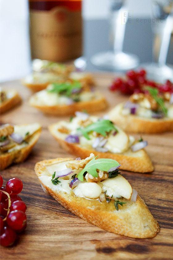 Rezept Crostini mit Birne und Roquefort