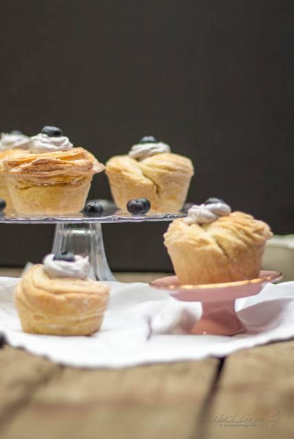 Rezept Cruffins mit Blueberry-Topping