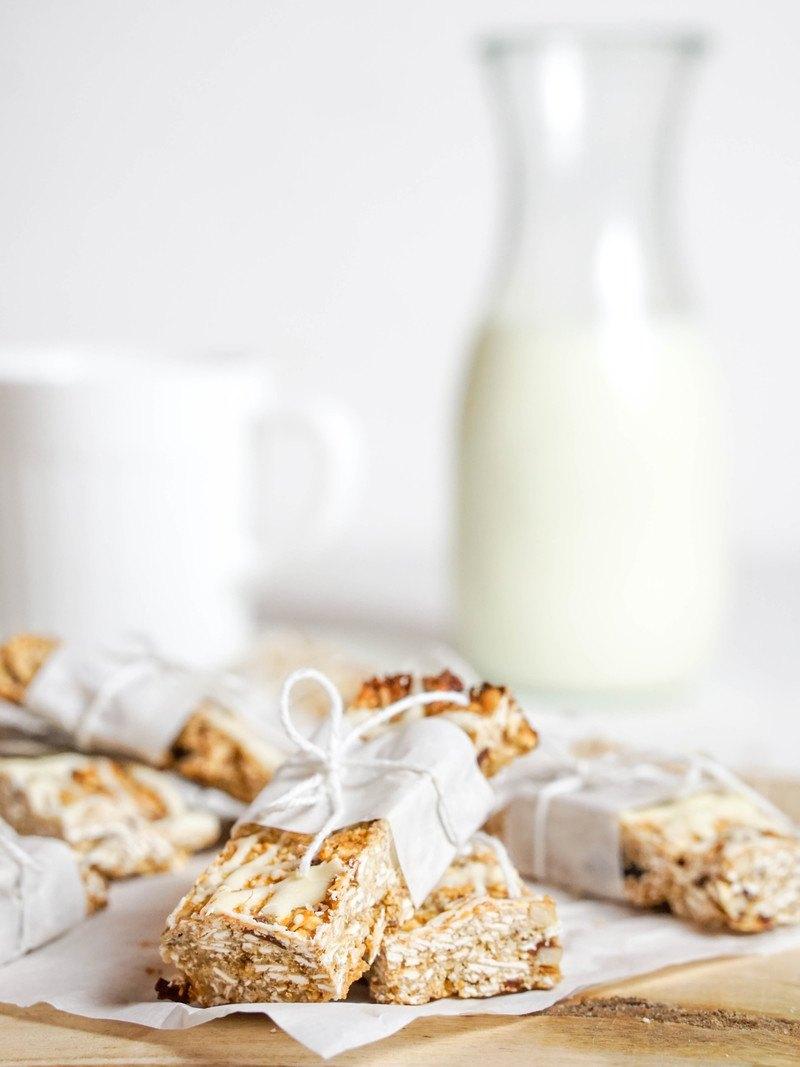 Rezept Crunchy Müsliriegel – gesund & mit Früchten und Haferflocken