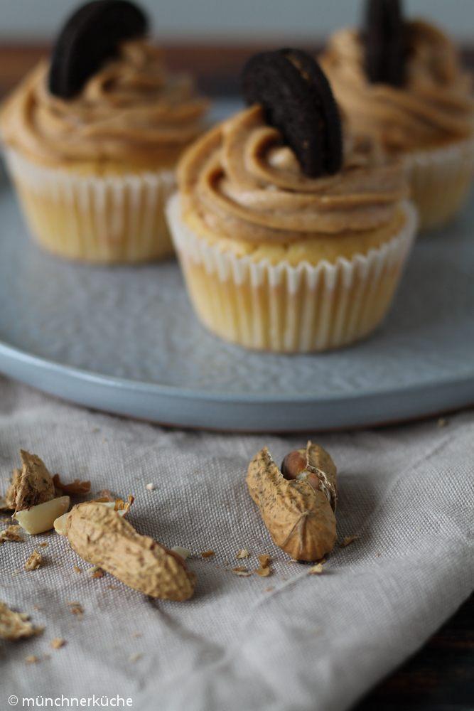 Rezept Cupcakes mit Erdnussbutterfrosting