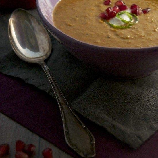 Rezept Curry-Linsensuppe mit Granatapfel