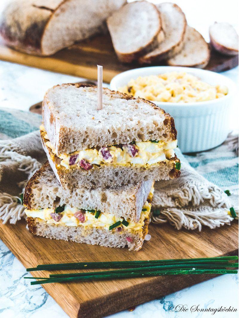 Rezept Deftiger Eiersalat mit Bacon