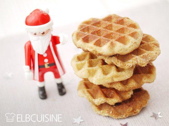 Rezept Der Weihnachtsmann klopft an… knusprige Zimt-Waffel-Kekse