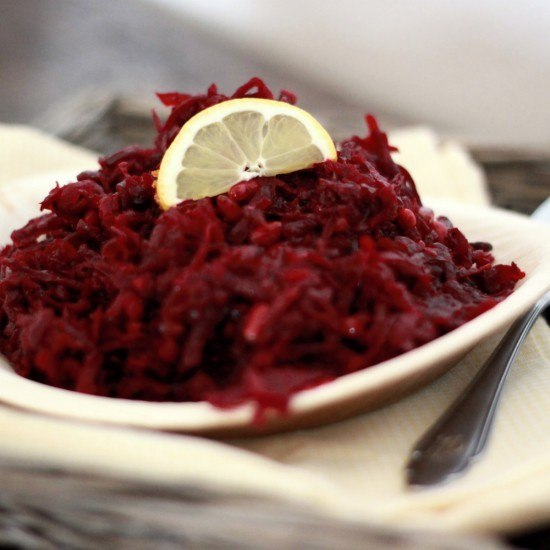 Rezept Despinas lauwarmer Rote Bete Salat