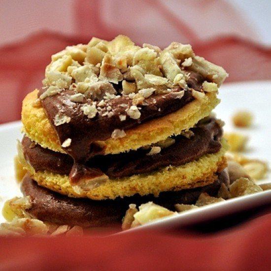 Rezept Dessert mit Kastanien und 2 Schokoladen