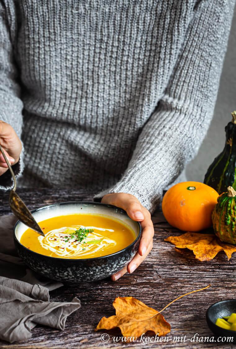 Rezept Kürbis-Mango Suppe