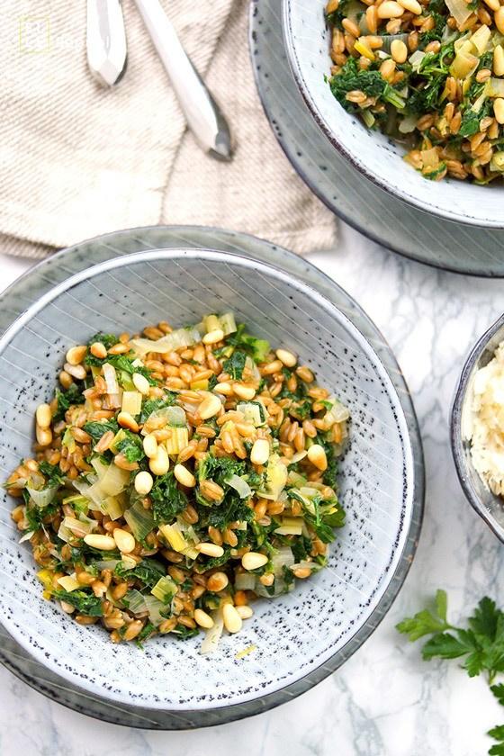 Rezept Dinkel-Risotto mit Lauch und Grünkohl