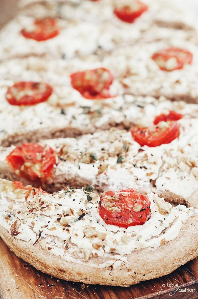 Rezept Dinkel-Vollkorn-Focaccia mit Frischkäse