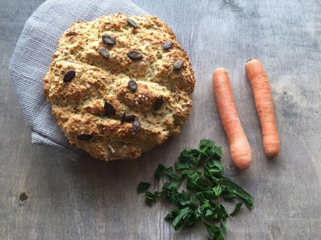 Rezept Dinkelbrot mit Bärlauch und Karotten