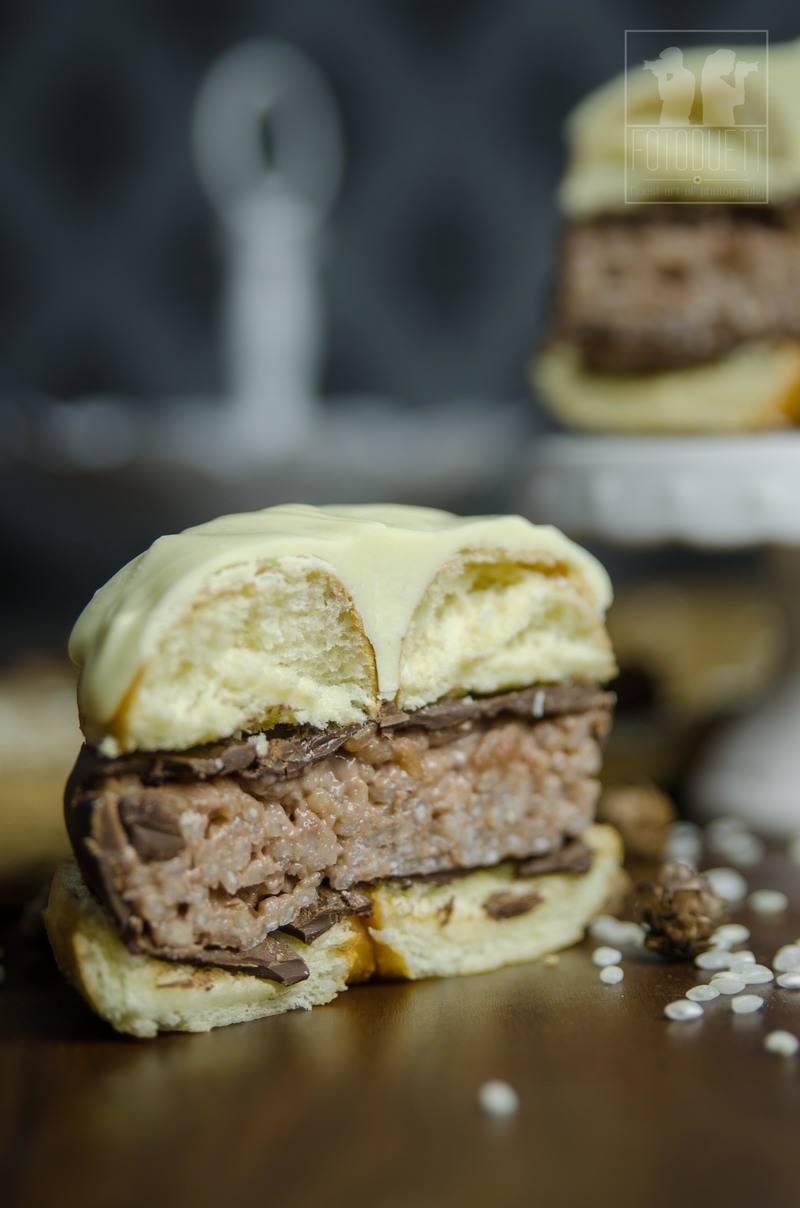 Rezept Donut-Milchreis-Burger